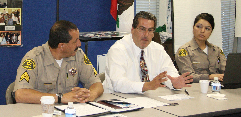 (Left to right) Sergeant Mike Abdeen, Lieutenant John Sullivan, and Deputy Afsoon Nafissi